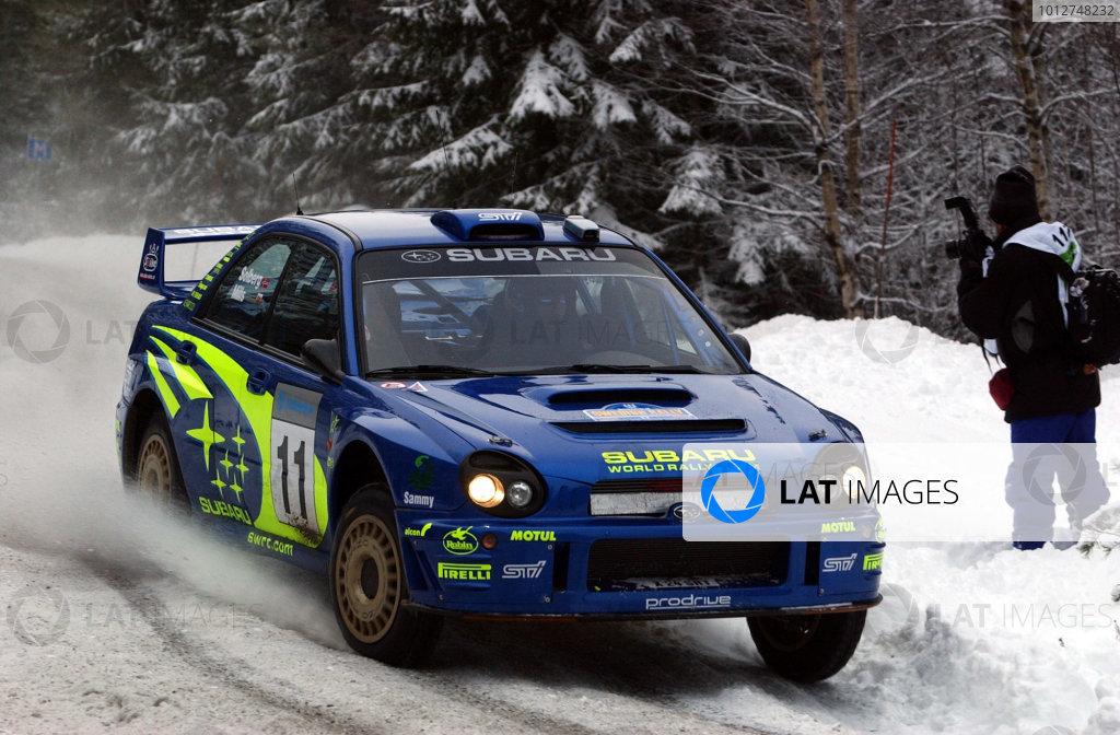 2002 World Rally ChampionshipUddeholm Swedish Rally, 1st-3rd February 2002.Petter Solberg during the shakedown.Photo: Ralph Hardwick/LAT