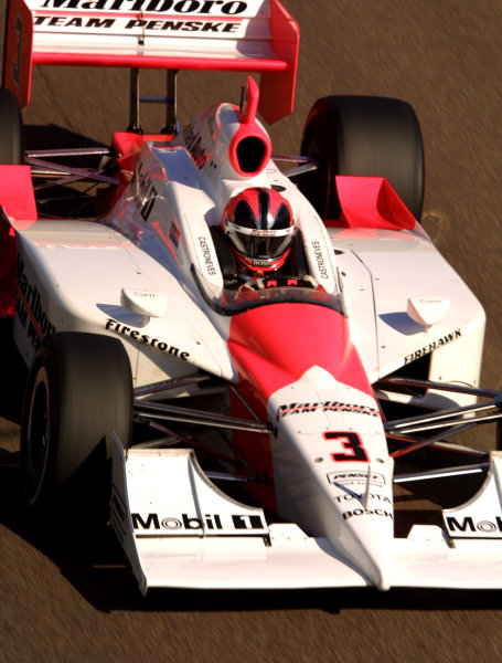2003 IRL IndyCar Test in the West, February 6-8, 2003 Phoenix International Raceway, Phoenix, Arizona, USA.Helio Castroneves (Marlboro Team Penske).-Phillip Abbott/USALAT Photographic