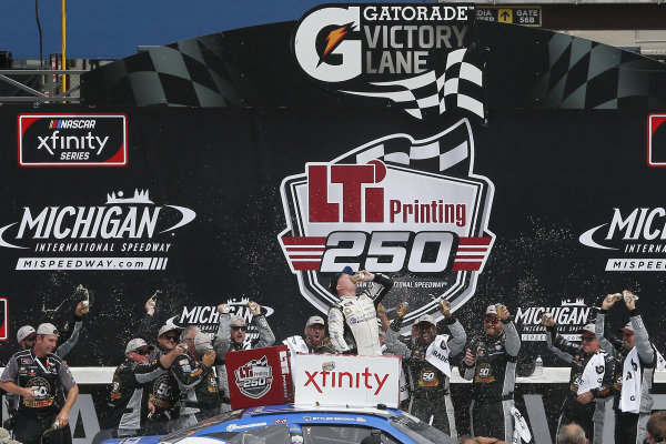 #2: Tyler Reddick, Richard Childress Racing, Chevrolet Camaro KC Motorgroup celebrates in victory lane