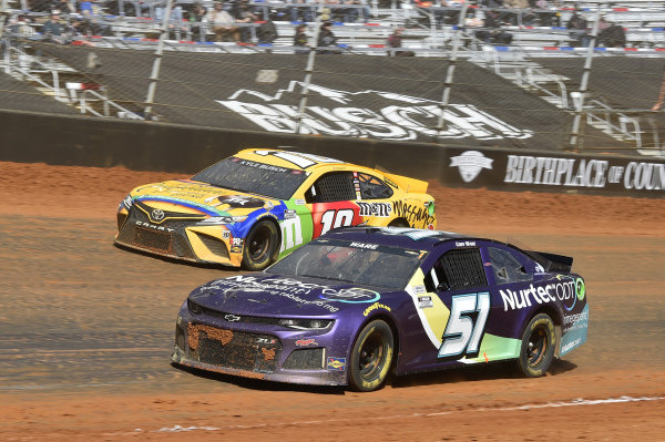 #51: Cody Ware, Petty Ware Racing, Chevrolet Camaro NURTEC ODT, #18: Kyle Busch, Joe Gibbs Racing, Toyota Camry M&M's Messages