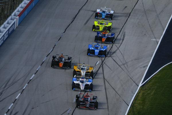 #12: Will Power, Team Penske Chevrolet, #15: Graham Rahal, Rahal Letterman Lanigan Racing Honda