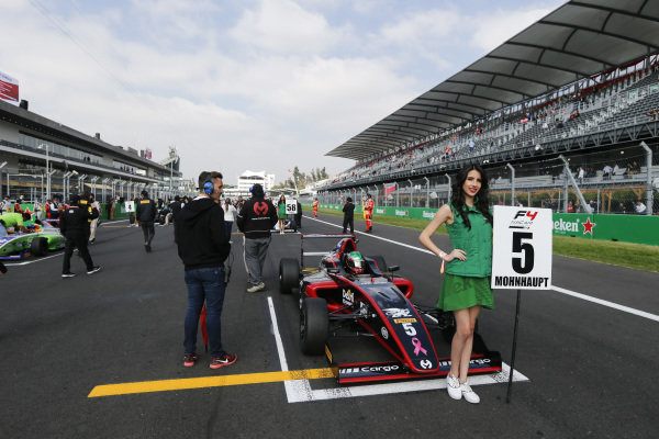 Alexandra Mohnhaupt (MEX) MOMOF4 1 RACING TEAM on the grid at Formula 4 Series, Circuit Hermanos Rodriguez, Mexico City, Mexico, 30 October 2016.