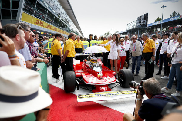 Jody Scheckter celebrates the 40th anniversary of his world championship win at Monza