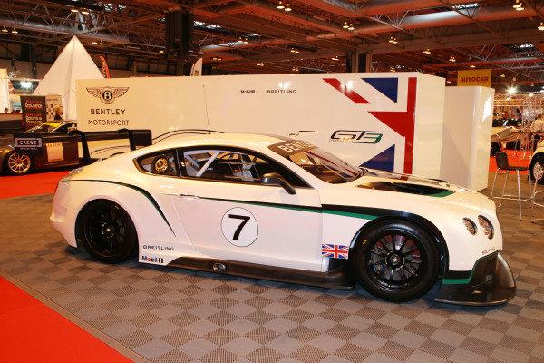 Bentley GT3. Autosport International Show, NEC, Birmingham, England, Day One, 9 January 2014.