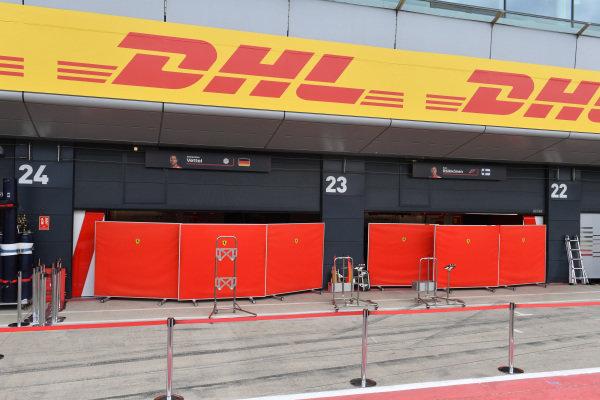 Ferrari garage and screens