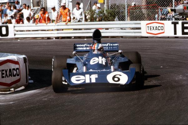 Monte Carlo, Monaco.31/5-3/6 1973.Francois Cevert (Tyrrell 006 Ford) 4th position.Ref-73 MON 53.World Copyright - LAT Photographic