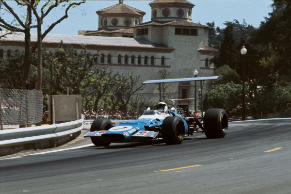 Monjuich Park, Barcelona, Spain. 2-4 May 1969. Jackie Stewart (Matra MS80 Ford) 1st position, action. Ref: 69ESP15. World Copyright: LAT Photographic.