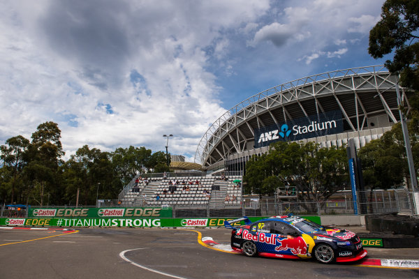 2016 Supercars Championship Round 14.  Sydney 500, Homebush Street Circuit, New South Wales, Australia. Friday 2nd December to Sunday 4th December 2016. Shane Van Gisbergen drives the #97 Red Bull Racing Australia Holden Commodore VF. World Copyright: Daniel Kalisz/LAT Photographic Ref: Digital Image 021216_VASCR14_DKIMG_2014.JPG