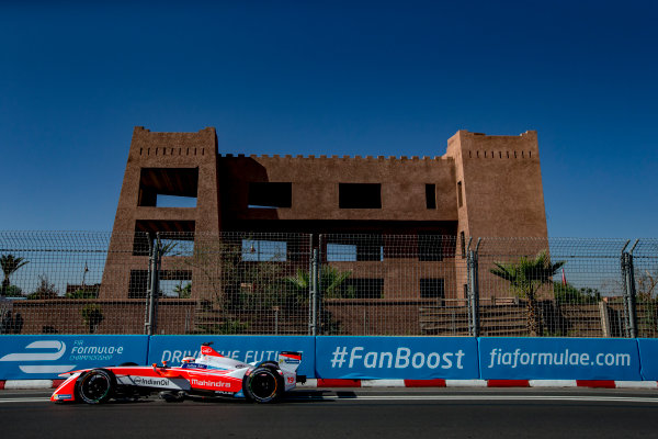 2016/2017 FIA Formula E Championship. Marrakesh ePrix, Circuit International Automobile Moulay El Hassan, Marrakesh, Morocco. Saturday 12 November 2016. Felix Rosenqvist (SWE), Mahindra Racing, Spark-Mahindra, Mahindra M3ELECTRO.  Photo: Zak Mauger/Jaguar Racing ref: Digital Image _X0W5788