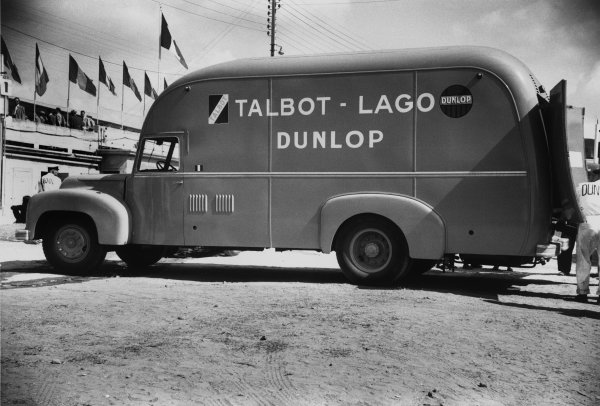 Le Mans, France. 13th - 14th June 1953.Talbot Lago team transporter.World Copyright: LAT Photographic.Ref:  53 - 56 - 34a-35.