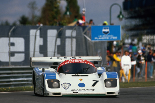 Montreal 480 Kms. Montreal, Quebec, Canada. 23rd September 1990. Rd 8.Bob Wollek/Frank Jelinski (Porsche 962C), 6th position, action. World Copyright: Murenbeeld/LAT PhotographicRef: 90MONT05