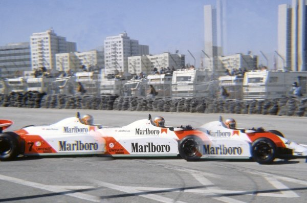 1981 United States Grand Prix West.Long Beach, California, USA. 13-15 March 1981.John Watson (McLaren MP4/1-Ford Cosworth) in practice.World Copyright: LAT PhotographicRef: 35mm transparency 81LB36