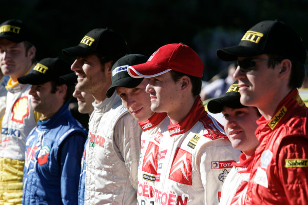 2005 World Rally Championship Rallye d'Italia, Sardinia, Italy. 29th April - 1st May 2005Driver line up.World Copyright: McKlein/LAT Photographic ref: Digital Image Only