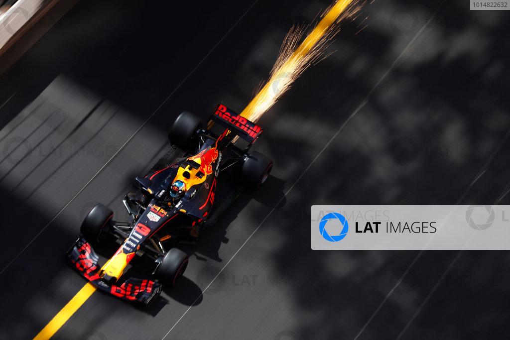 Monte Carlo, Monaco. Thursday 25 May 2017. Daniel Ricciardo, Red Bull Racing RB13 TAG Heuer. World Copyright: Glenn Dunbar/LAT Images ref: Digital Image _X4I1419