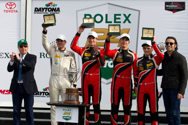 2017 Rolex 24 Hours. Daytona, Florida, USA Sunday 29 January 2017. Race winner PC, #38 Performance Tech Motorsports ORECA FLM09: James French, Kyle Mason, Patricio O'Ward, Nicholas Boulle World Copyright: Alexander Trienitz/LAT Images ref: Digital Image 2017-24h-Daytona-AT2-3535