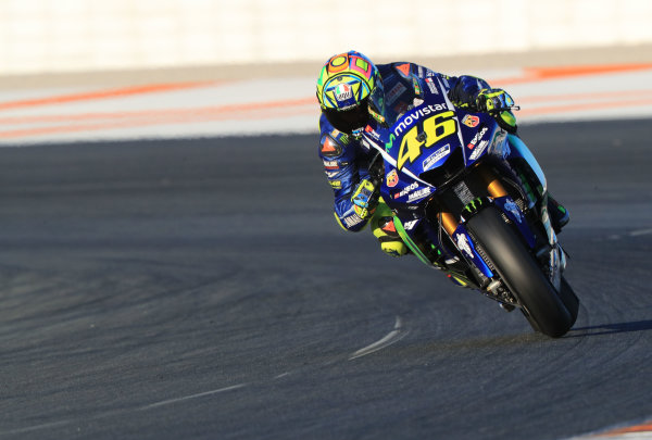 2017 MotoGP Championship - Valencia test, Spain. Tuesday 14 November 2017 Valentino Rossi, Yamaha Factory Racing World Copyright: Gold and Goose / LAT Images ref: Digital Image 706896
