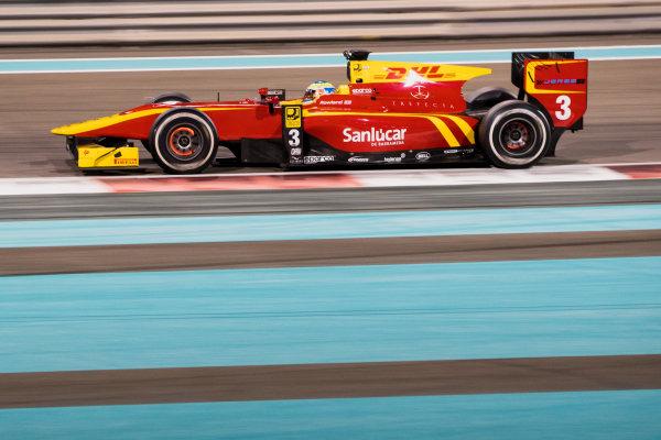 2017 FIA Formula 2 Test 3. Yas Marina Circuit, Abu Dhabi, United Arab Emirates. Saturday 2 December 2017. Oliver Rowland (GBR, Racing Engineering).  Photo: Zak Mauger/FIA Formula 2. ref: Digital Image _O3I6445
