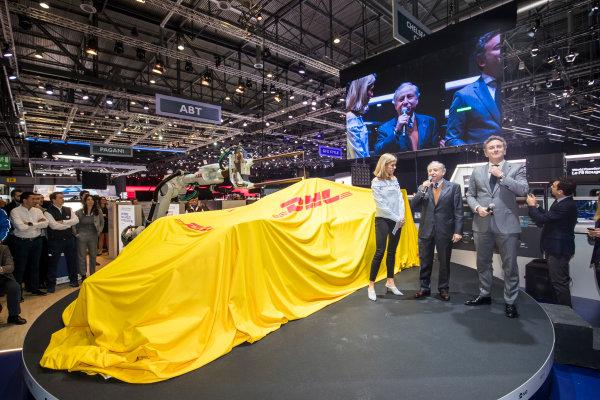 2017/2018 FIA Formula E Championship. Geneva Motor Show Tuesday 6 March 2018. The FIA Formula-E Gen2 car is unveiled. Photo: Sam Bloxham/LAT/Formula E ref: Digital Image _W6I3758