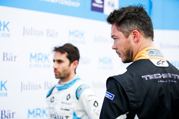 2017/2018 FIA Formula E Championship.Round 3 - Marrakesh ePrix.Circuit International Automobile Moulay El Hassan, Marrakesh, Morocco.Saturday 13 January 2018.Nicolas Prost (FRA), Renault e.Dams, Renault Z.E 17, and Andre Lotterer (BEL), TECHEETAH, Renault Z.E. 17.Photo: Zak Mauger/LAT/Formula Eref: Digital Image _X0W5657