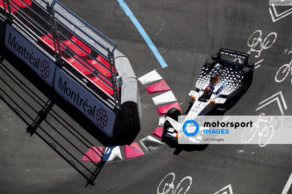 2016/2017 FIA Formula E Championship. Round 12 - Montreal ePrix, Canada Sunday 30 July 2017. Loic Duval (FRA), Dragon Racing, Spark-Penske, Penske 701-EV. Photo: Sam Bloxham/LAT/Formula E ref: Digital Image _J6I6373