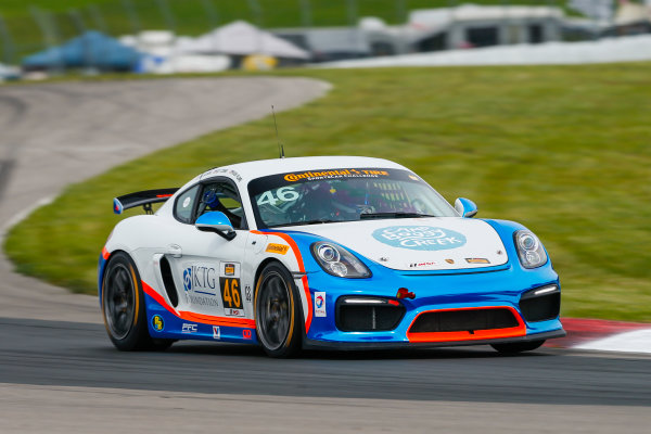 IMSA Continental Tire SportsCar Challenge Mobil 1 SportsCar Grand Prix Canadian Tire Motorsport Park Bowmanville, ON CAN Friday 7 July 2017 46, Porsche, Porsche Cayman GT4, GS, Ted Giovanis, Guy Cosmo World Copyright: Jake Galstad/LAT Images