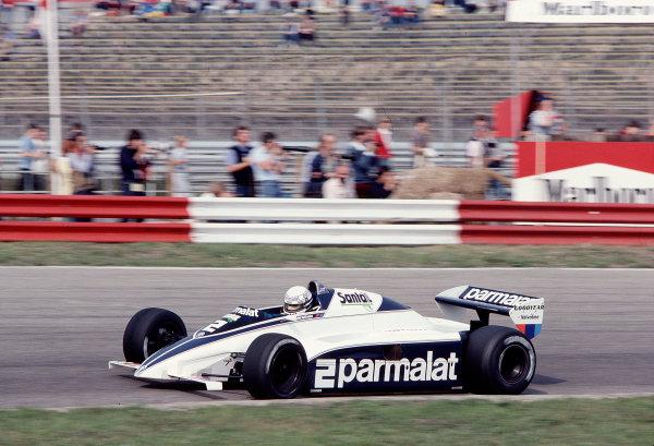 1982 Dutch Grand Prix.Zandvoort, Holland.1-3 July 1982.Riccardo Patrese (Brabham BT50 BMW).Ref-82 HOL 69.World Copyright - LAT Photographic