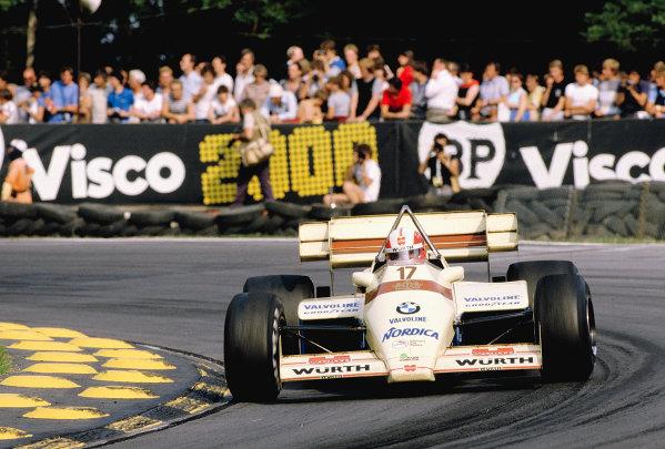 1984 British Grand Prix.Brands Hatch, England.20-22 July 1984.Marc Surer (Arrows A7 BMW) 11th position.Ref-84 GB 50.World Copyright - LAT Photographic