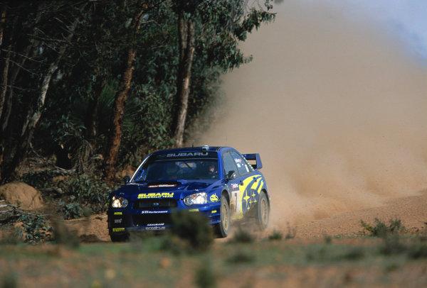 2003 World Rally ChampionshipRally Australia. 3rd - 7th September 2003RAlly winner Petter Solberg/Philip Mills (Subaru Impreza WRC 2003), action.World Copyright: McKlein/LAT Photographicref: 35mm Image A12