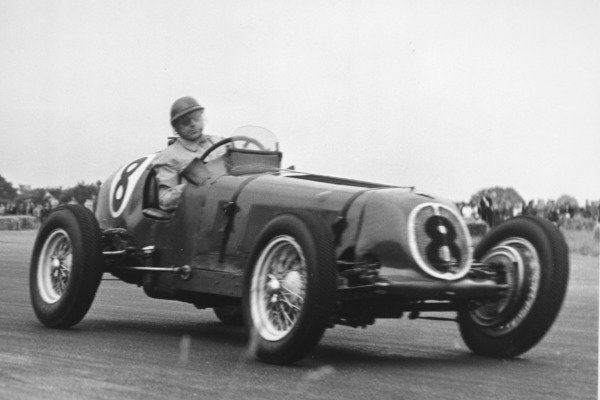 1951 British Grand Prix.Silverstone, Great Britain. 14 July 1951.Bob Gerard (ERA B-type). Ref-C29876.World Copyright - LAT Photographic