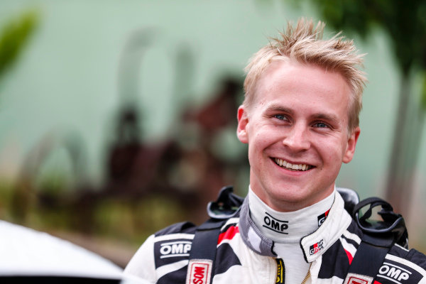 Esapekka Lappi is a all smiles on Rally d'Italia Sardinia