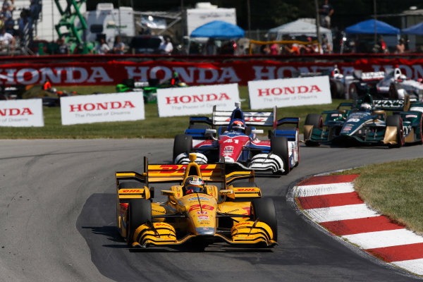 31 July - 2 August, 2015, Lexington, Ohio, USA Ryan Hunter-Reay, Jack Hawksworth © 2015, Michael L. Levitt LAT Photo USA