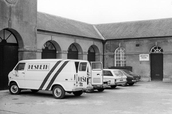 The headquarters of Hesketh Racing. Formula One World Championship, Easton Neston, Towcester, England, c. Late April 1974.