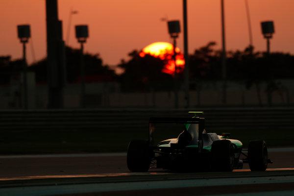 2014 GP3 Series Test 3.   Yas Marina Circuit, Abu Dhabi, United Arab Emirates. Saturday 29 November 2014. Steijn Schothrost (NED, Status Grand Prix)  Photo: Sam Bloxham/GP3 Series Media Service. ref: Digital Image _14P3046