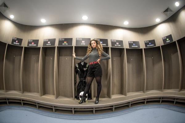 2015 Race Of Champions Olympic Stadium, London, UK MOBO award-winning singer-songwriter Ella Eyre. Copyright Free FOR EDITORIAL USE ONLY. Mandatory Credit: 'IMP'