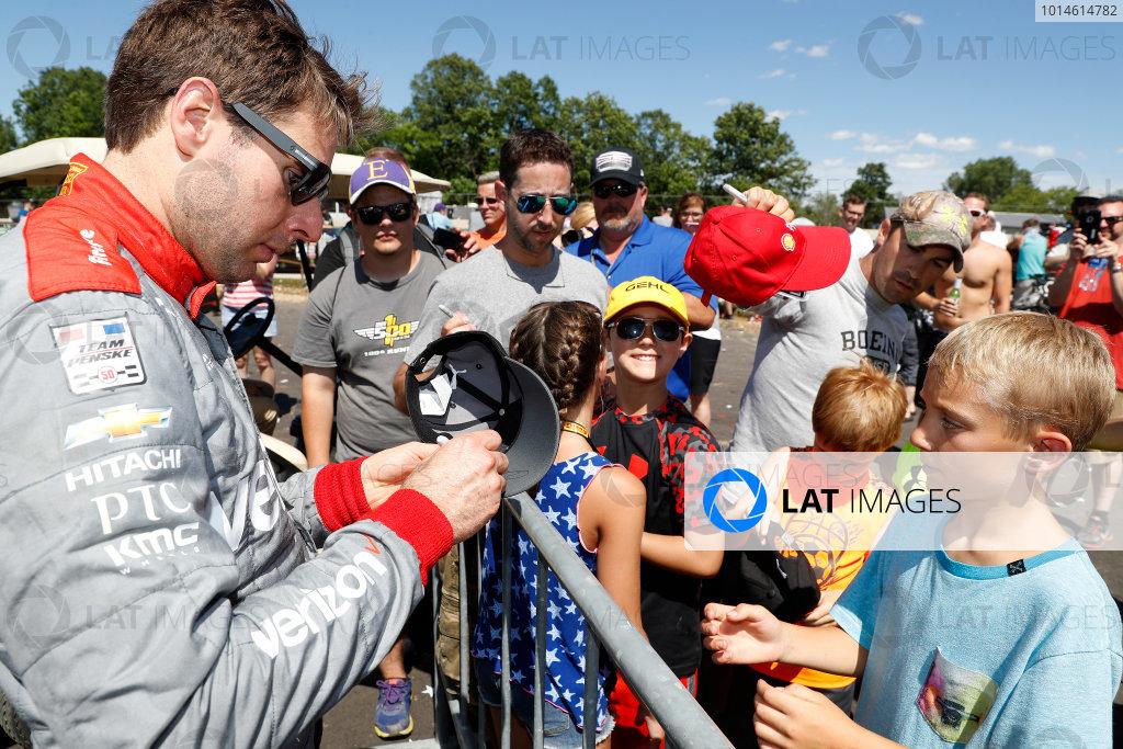 24-26 June, 2016, Elkhart Lake, WIsconsin, USA , Will Power autographs ?2016, Michael L. Levitt LAT Photo USA
