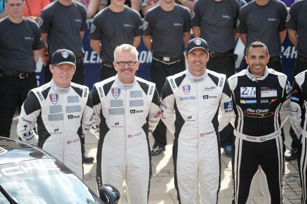 2014 Le Mans 24 Hours. Circuit de la Sarthe, Le Mans, France. Sunday 8 June 2014. 77, Dempsey Racing Porsche 911 GT3, LM GTE Am, P. Dempsey, P. Long, J. Foster World Copyright: Rick Dole/LAT Photographic. ref: Digital Image Dole_LM24_2014_03