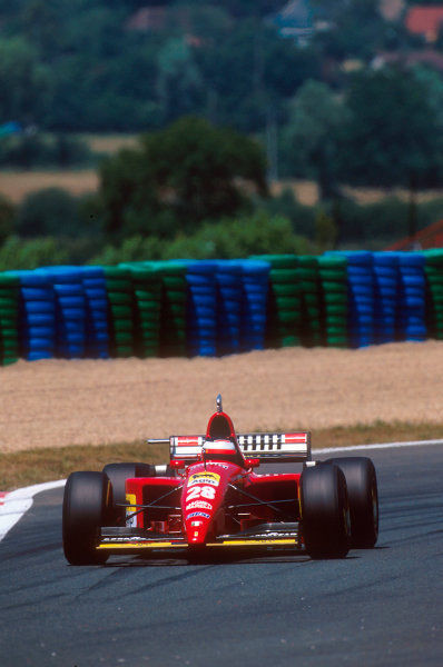 Magny-Cours, France.30/6-2/7 1995.Gerhard Berger (Ferrari 412T2) 12th position.Ref-95 FRA 18.World Copyright - LAT Photographic