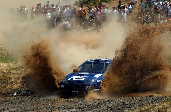 First leg rally leader Markko Martin  (EST) Ford Focus RS WRC eventually finished the rally in 6th place, taking a point for himself and Ford.Acropolis Rally, Rd7, Greece. Day Three. 16 June 2002.DIGITAL IMAGE