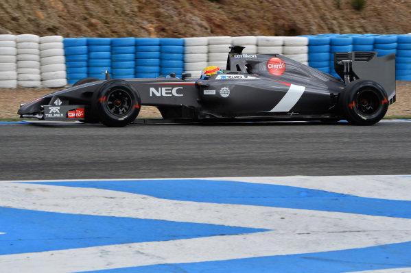 Esteban Gutierrez (MEX) Sauber C33. Formula One Testing, Jerez, Spain, Day Two, Wednesday 29 January 2014.