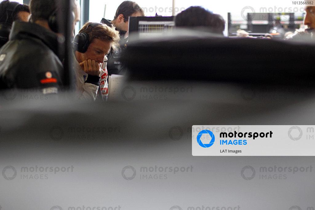 Albert Park, Melbourne, Australia 25th March 2011. Jenson Button, McLaren MP4-26 Mercedes. Portrait.  World Copyright: Steven Tee/LAT Photographic ref: Digital Image _A8C2845