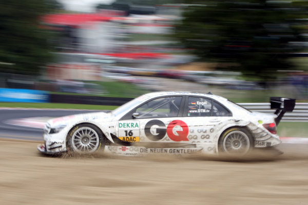Maro Engel (GER), GQ AMG Mercedes, GQ AMG Mercedes C-Klasse (2008) off track. DTM, Rd7, Brands Hatch, England, 3-5 September 2010. World Copyright: LAT Photographic ref: dne1004se228