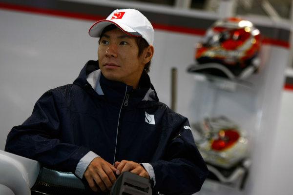 Suzuka Circuit, Suzuka, Japan.9th October 2010.Kamui Kobayashi, BMW Sauber C29 Ferrari. Portrait.  World Copyright:Charles Coates/LAT Photographicref: Digital Image _26Y8177