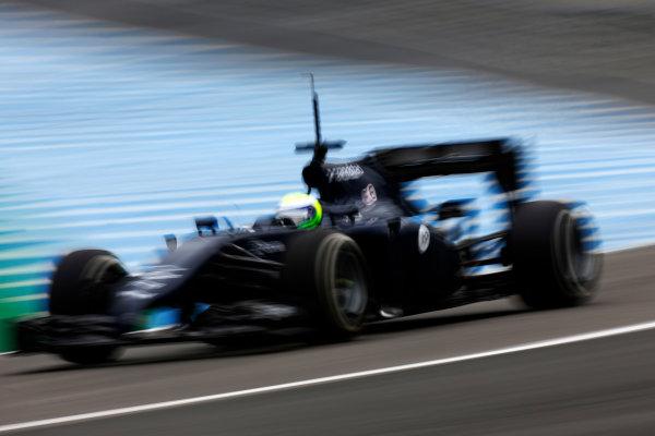 2014 F1 Pre Season Test 1 - Day 4 Circuito de Jerez, Jerez, Spain. Friday 31 January 2014. Felipe Massa, Williams FW36 Mercedes. World Copyright: Andrew Ferraro/LAT Photographic. ref: Digital Image _79P7826.JPG