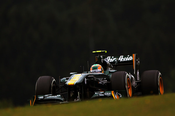 Karun Chandhok (IND) Team Lotus T128. Formula One World Championship, Rd 10, German Grand Prix, Qualifying Day, Nurburgring, Germany, Saturday 23 July 2011.