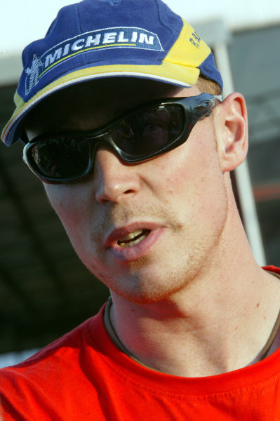 Richard Burns, Peugeot 206 WRC, Acropolis Rally 2003.Photo: McKlein/LAT