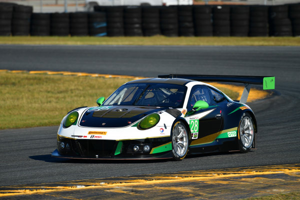 13-14 December 2016,  Daytona Beach, Florida USA 28, Porsche, Porsche 911 GT3 R, GTD, Carlos de Quesada, Daniel Morad, Jesse Lazare, Michael de Quesada, Michael Christensen ?2016, Richard Dole LAT Photo USA