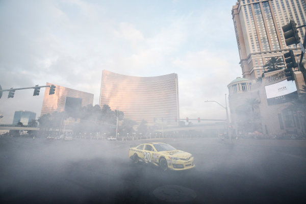 3-5 December, 2014, Las Vegas, Nevada USA Matt Kenseth burnout ©2014, Michael L. Levitt LAT Photo USA