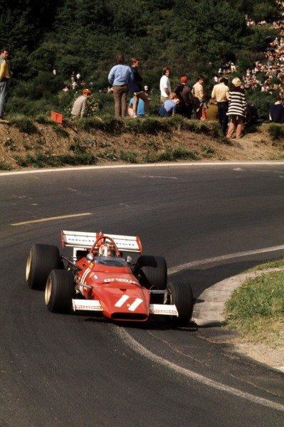 1970 French Grand Prix.Clermont-Ferrand, France.3-5 July 1970.Ignazio Giunti (Ferrari 312B) 14th position.Ref-70 FRA 18.World Copyright - LAT Photographic