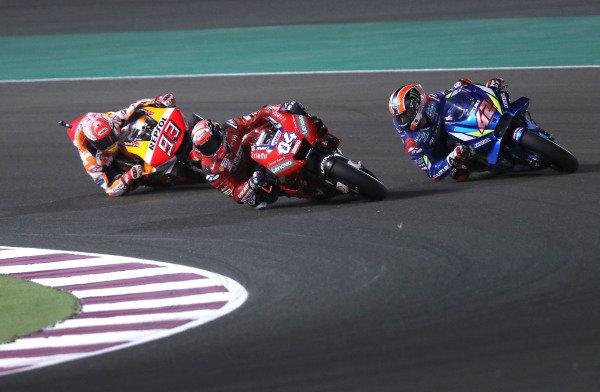 Andrea Dovizioso, Ducati Team, Marc Marquez, Repsol Honda Team, Alex Rins, Team Suzuki MotoGP.
