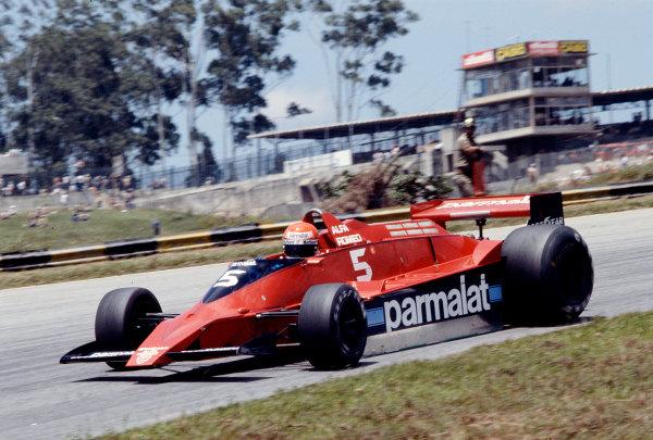 1979 Brazilian Grand Prix.Interlagos, Sao Paulo, Brazil.2-4 February 1979.Niki Lauda (Brabham BT48 Alfa Romeo).Ref-79 BRA 22.World Copyright - LAT Photographic